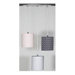 Suspension lumineuse trio-Miss fleur de lune-Sauthon